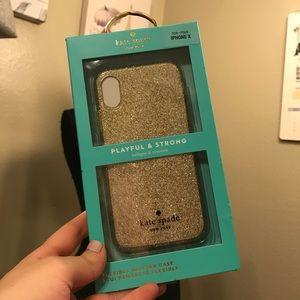 Kate spade gold iPhone X case♠️